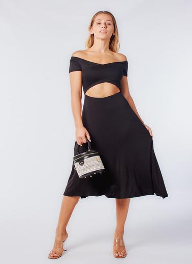 Coral Elbise Siyah